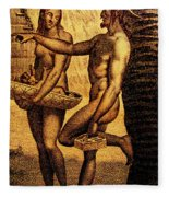 Ancient Chamorro Society 2 Fleece Blanket