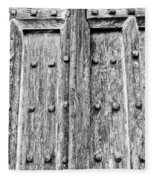 Ancient Church Door Fleece Blanket