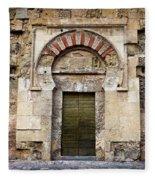 Ancient Door To The Mezquita In Cordoba Fleece Blanket