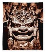 Ancient Mask Fleece Blanket