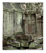 Ancient Ruins Cambodia Fleece Blanket