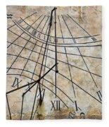 Ancient Sundial Fleece Blanket