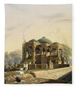 Ancient Temple At Hulwud, From Volume I Fleece Blanket