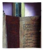 Ancient Torah Scrolls From Yemen  Fleece Blanket