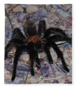 And Along Came A Little Spider .  Fleece Blanket