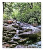 ...and The Creek Don't Rise Fleece Blanket