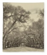 And Time Stood Still Sepia Fleece Blanket
