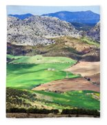 Andalucia Landscape In Spain Fleece Blanket