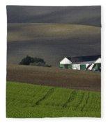 Andalusian Farmland  Fleece Blanket