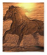 Andalusian Sunset Fleece Blanket