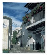 Andalusian White Village Fleece Blanket