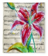 Andante Cantabile Romance  Page 64 Fleece Blanket