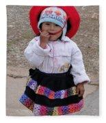 Andean Chiquita Fleece Blanket