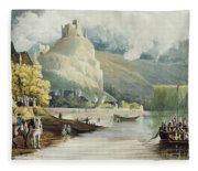 Andely, From Views On The Seine Fleece Blanket