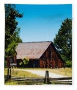 Anderson Valley Barn Fleece Blanket