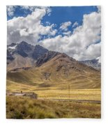 Andes Mountains - Peru Fleece Blanket