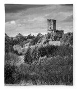 Andrade's Castle Galicia Spain Fleece Blanket