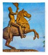 Andrew Jackson - Paint Fleece Blanket