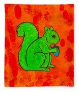 Andy's Squirrel Green Fleece Blanket