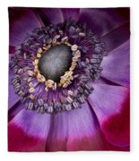 Anemone Coronaria  Macro Fleece Blanket