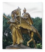 Angel And Tecumseh Sherman Fleece Blanket