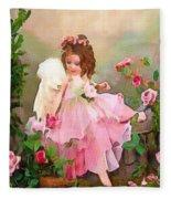 Angel And Baby  Fleece Blanket