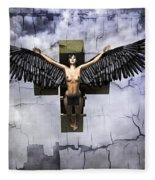 Angel Cube Fleece Blanket