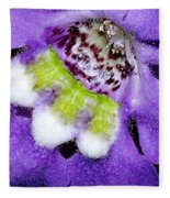 Angel Face Blue - With Extra Petals And 3 Stamen Fleece Blanket