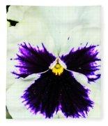 Angel In The Flower Fleece Blanket