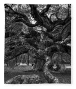 Angel Oak Tree 2 Fleece Blanket