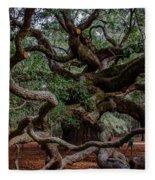 Angel Oak Tree Treasure Fleece Blanket
