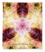 Angel Of The Healing Heart Fleece Blanket
