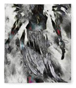 Angel Of Winter Fleece Blanket