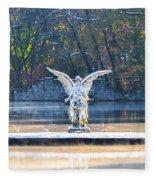 Angel On A Misty Lake  Fleece Blanket