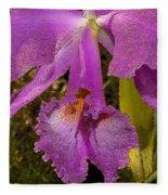 Angel Orchid Gold Leaf Fleece Blanket