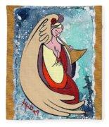 Angel Playing For Us No1 Fleece Blanket