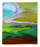 Angel Sky Green By Jrr Fleece Blanket