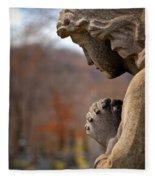 Angel Watching Over Fleece Blanket
