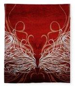 Angel Wings Crimson Fleece Blanket