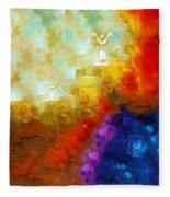 Angels Among Us - Emotive Spiritual Healing Art Fleece Blanket