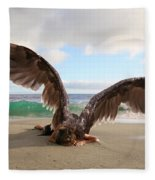 Angels- For The Lord Himself Will Descend From Heaven With A Shout Fleece Blanket