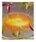 Angels Gather To The Love Of The Lord Fleece Blanket