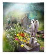 Angels Of Stone Fleece Blanket