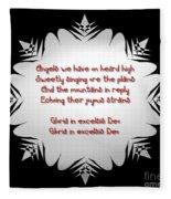 Angels We Have Heard On High Snowflake Fleece Blanket
