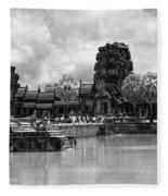 Angkor Black White Fleece Blanket