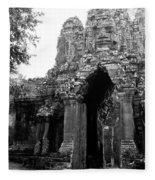 Angkor Thom East Gate 01 Fleece Blanket