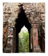 Angkor Thom East Gate 02 Fleece Blanket