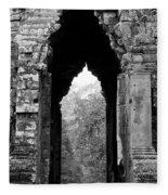 Angkor Thom East Gate 03 Fleece Blanket