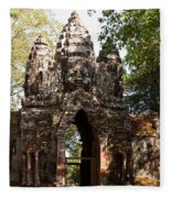 Angkor Thom North Gate 01 Fleece Blanket