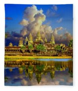 Angkor Wat Just Before Sunset Fleece Blanket